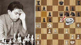 Mikhail Tal gets a KISS for a Brilliant Move! - Misha Impossible