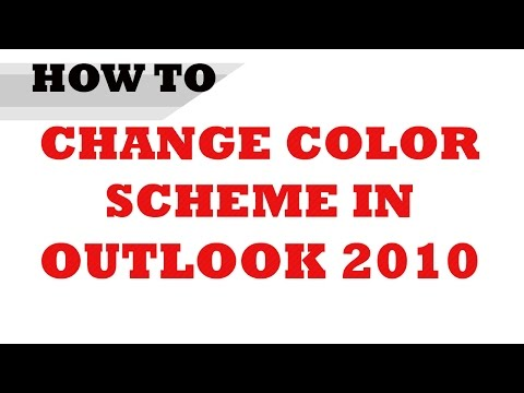How to Change Color Scheme in Microsoft Outlook