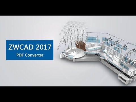 PDF Converter: Converting drawings on a PDF to a DWG in ZWCAD.
