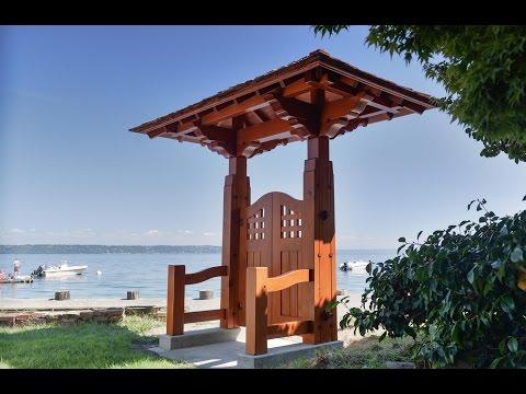 Woodworking, Japanese Garden Gate, Timber Framing