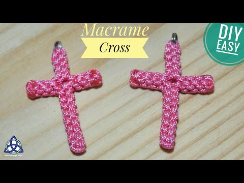 Macrame Cross Pendant ♥ Tutorial ♥