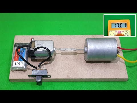 WOW ! Awesome DC Motor Generator (Converts 3V DC to 17V DC)