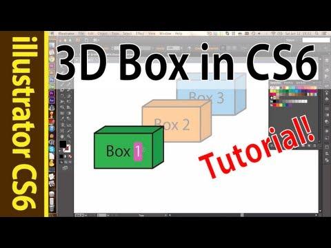 3d box illustrator CS6 - Nice for flowcharts / graphics! (Tutorial)