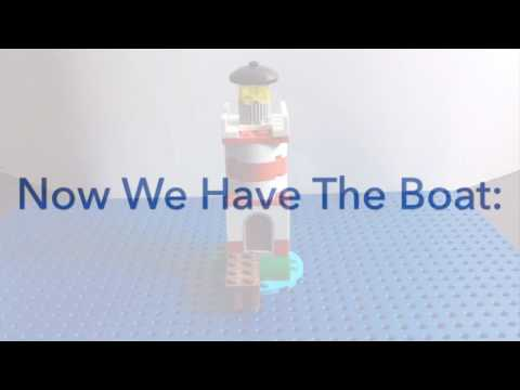 How To Build A Lego Boat And Lighthouse