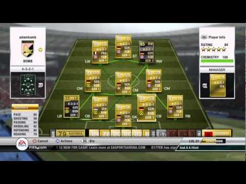 Fifa 12 Ultimate Team my Bundesliga team.wmv