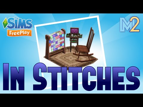 Sims FreePlay - In Stitches Quest & Quilting Hobby (Let's Play Ep 25)