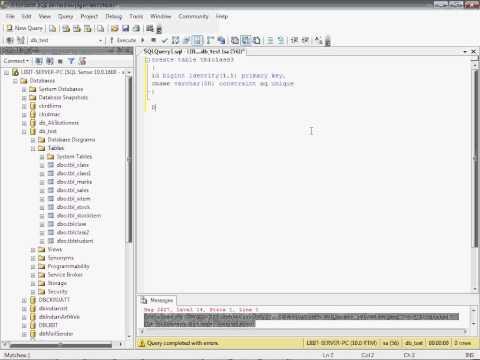 Part 16  Unique Key in sql Server in Hindi