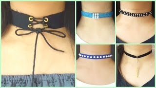 10 DIY Chokers   Easy and Cheap