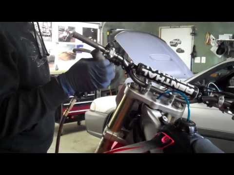 How to change your motorcycle grips the easy way