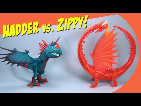 How to Train Your Dragon 2 Dark Deadly Nadder & Orange Flame Zippleback