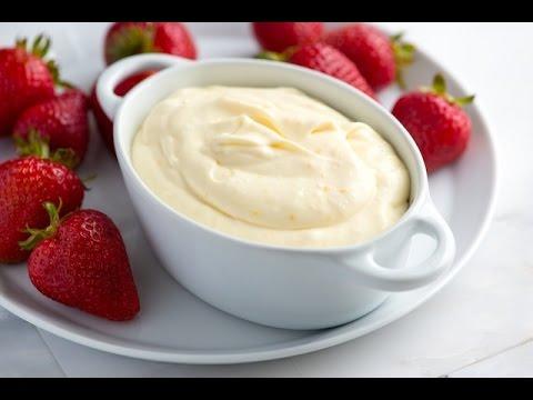 How to make strawberry cream fruit dip