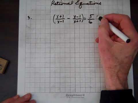 Intermediate Algebra Rational Equations