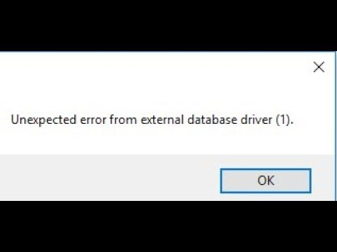 Unexpected error from external database driver (1). || Solved 100%