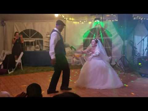 Maurice and Sarah's wedding garter belt dance