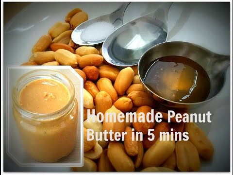 How to Make Peanut Butter in 5 minutes