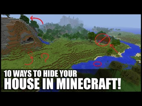 10 Ways To Hide Your House In Minecraft