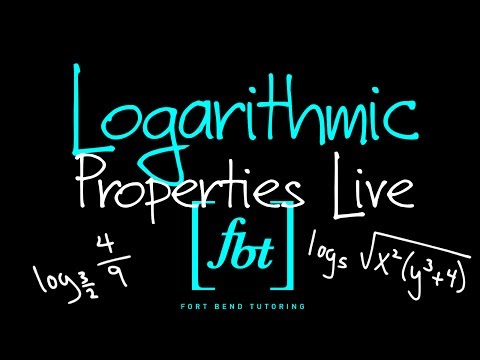 🔴 Logarithmic Properties Live [fbt] (Converting, Simplifying, Expanding & Writing as a Single Log)