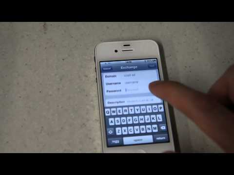 Setting up College Email on your iPhone