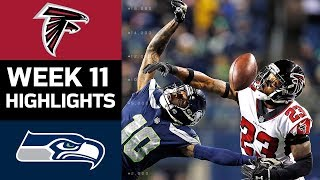 Falcons vs. Seahawks | NFL Week 11 Game Highlights