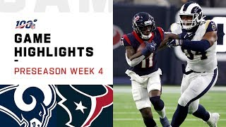 Rams vs. Texans Preseason Week 4 Highlights   NFL 2019