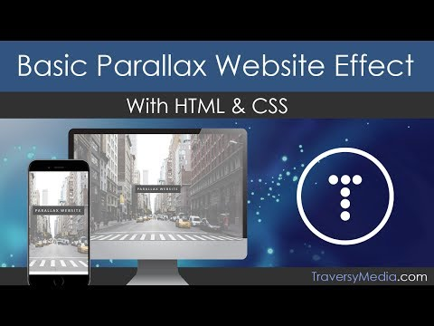 Basic Parallax Website With HTML & CSS