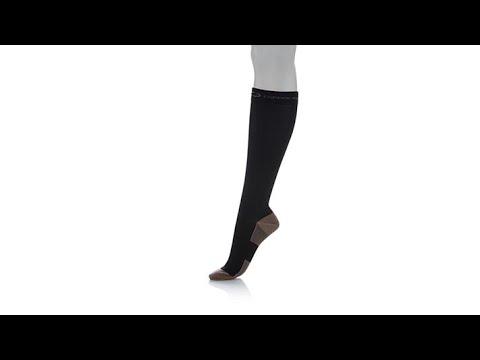 Copper Fit KneeHigh Compression Socks 2pack