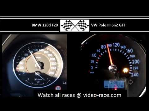 BMW 120d F20 VS. VW Polo III 6n2 GTI - Acceleration 0-100km/h