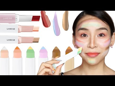Full Face of Laneige Two Tone Makeup - TINA YONG