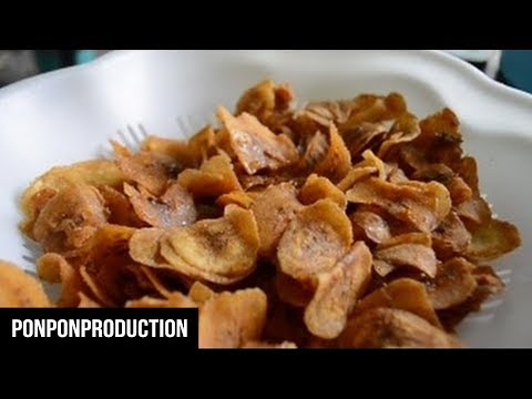 How to make SWEET BANANA CHIPS   EASY SNACKS