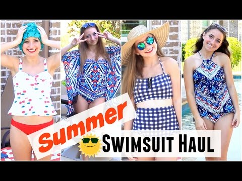 Summer Swimsuit Haul | Brooklyn and Bailey