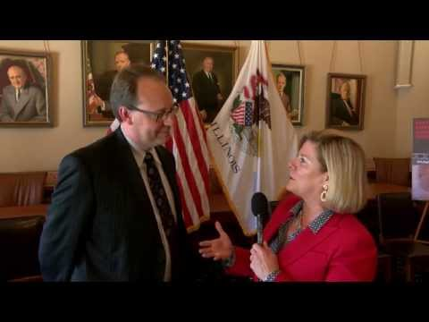 Sen. McConnaughay and Brian Towne discuss human trafficking