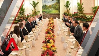 Trump-Kim summit: President Trump has working lunch with Prime Minister Lee at the Istana