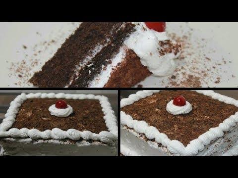 Easy Moist Chocolate Cake - Chocolate Cake With Icing - Easy Homemade Chocolate Cake