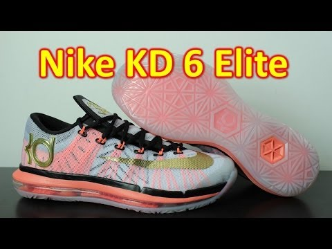 Nike KD 6 Elite White/Metallic Gold - Review + On Feet