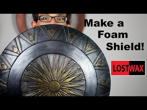 How to Make a Domed Foam Shield. DIY Wonder Woman/ Captain America Cosplay Shield
