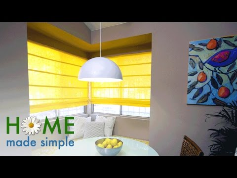 Create Beautiful Roman Shades Using Old Slatted Blinds | Home Made Simple | Oprah Winfrey Network