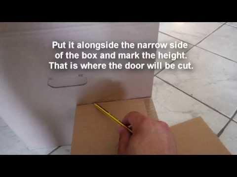 DIY bunny cardboard castle