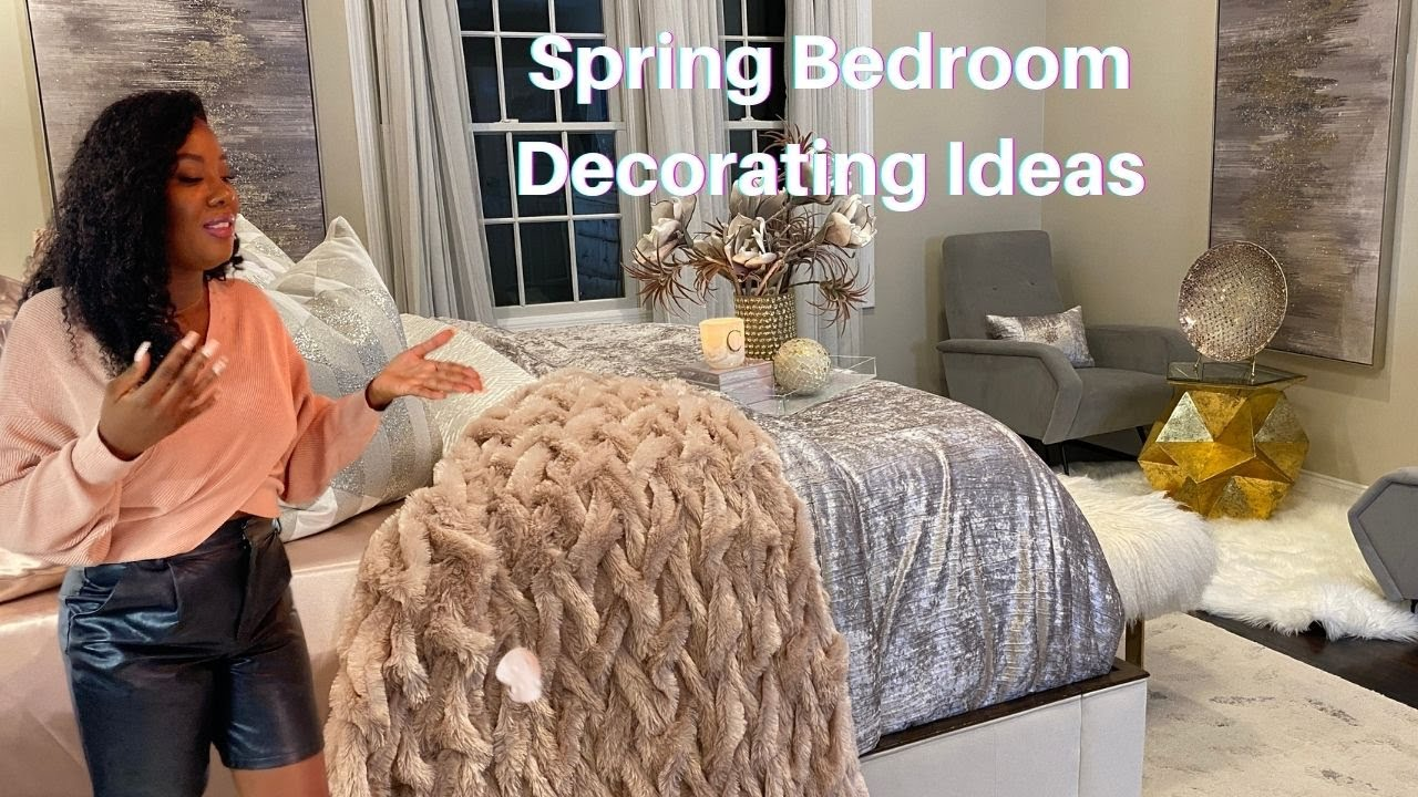 MASTER BEDROOM DECORATION IDEAS// All New Accessories // How to Decorate a glam Bedroom