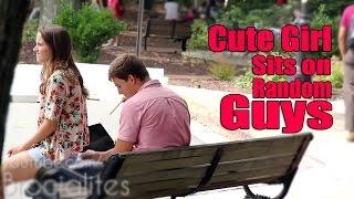 New Funny Prank | Cute Girl Sits on Random Guys | ComedyON