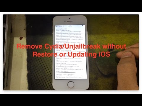 [ Cydia impactor ] Remove Cydia/Unjailbreak your iPhone/iPod/iPad without Restore or Updating iOS