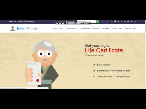 Pension Digital Life Certificate जीवन प्रमाण पेंशनर window software and android app download