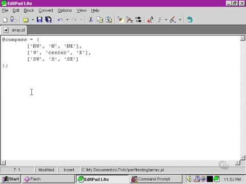 VTC Player   Perl Fundamentals, Multidimensional arrays