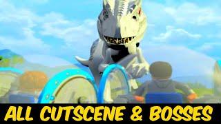 Lego Jurassic World All Cut Scenes & Boss Fights HD 60FPS