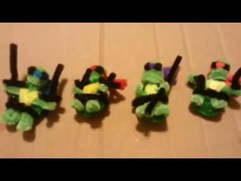 How to Make Pipe Cleaner Ninja Turtles