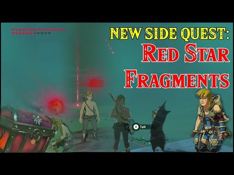 NEW DLC SIDE QUEST: Red Star Fragments from Xenoblade Chronicles 2 in Zelda Breath of the Wild DLC