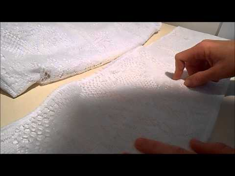 Anyone Can Make Fabric With Lace Overlay