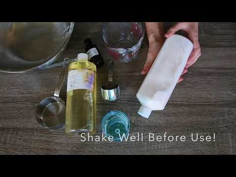 DIY Laundry Detergent made with castile Soap