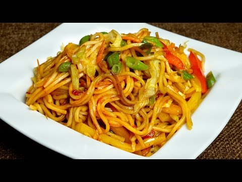 Veg Chow Mein Recipe in Hindi||How to make Chow Mein at Home Indian Style