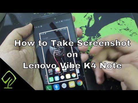 How to Take Screenshot on Lenovo Vibe K4 Note
