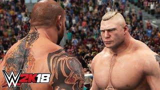 WWE 2K18 IRON MAN! - Batista Challenges Brock Lesnar at Wrestlemania 33 PS4/XB1
